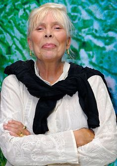 Joni Mitchell is a Canadian singer, songwriter of great texts and painter. She began singing in small nightclubs in Saskatchewan. Her wide-ranging contralto vocals and distinctive open-tuned guitar and piano compositions grew more harmonically and rhythmically complex as she explored jazz, melding it with influences of rock and roll, R&B, classical music, and non-western beats. She turned again toward pop, embraced electronic music and engaged in political protest.