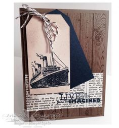 Stampin' Up!Traveler, Happy Retirement (Outside) Retirement Cards, Happy Retirement, Stampin Up Cards, Men's Cards, Work Friends, Nautical Cards, Travel Cards, Birthday Cards For Men, Fathers Day Cards