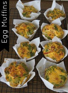 Egg Muffins - super easy to make and the perfect recipe to use up veggies and meat you have left over in the fridge. Gluten and dairy free and paleo friendly.