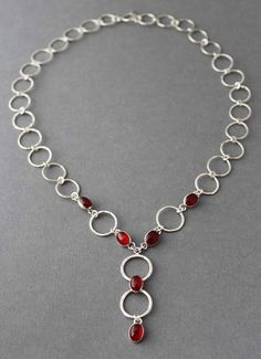 **Use coupon code PIN10 and get 10% off your entire purchase! Sterling circle Carnelian Necklace Forever by tladesigns on Etsy, $180.00