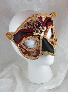 brown finish wearable art - Traditional handmade mask Half mask /'Old man/'