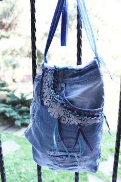 Blue denim handbags Jeans bags Jeans Crossbody by Nazcolleccolors Denim Purse, Denim Jeans, Handmade Fabric Bags, Discount Handbags, Discount Shoes, Only Jeans, Denim Handbags, Recycling, Pretty Shirts
