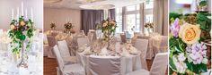 Tischdekoration mit Kerzenleuchter zur Hochzeit