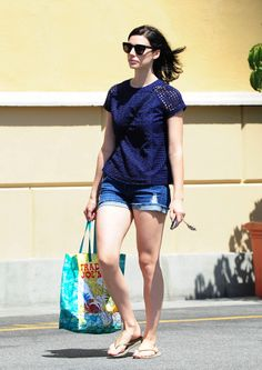 Jessica Pare wears James Jeans Shorty in Genevieve while out in LA - Click now to steal her style!