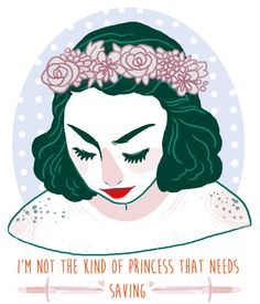 I'm the kind of Princess that 'tames' the dragon and does the saving.