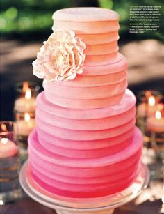 Ombre cake this is a really good idea