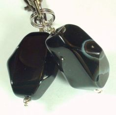 Handmade-Faceted-Black-Agate-Charm-for-Dog-Collar-draws-out-negative-energies