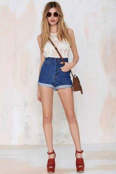 Nasty Gal Denim - The Born to Run Short - Shorts | Shorts | Denim | Denim |  | Shorts