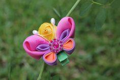 Mariposa, ganchos de pelo, diademas para el pelo, accesorios del pelo, pelo de las flores, Kanzashi, regalos del bebé, postizos, florista, del niño del bebé, Diademas