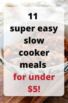 Easy slow cooker recipes Slow cooker recipes for kids or for a crowd Simple and cheap slow cooker recipes Slow cooker recipes with chicken and beef Tasty crockpot meals S. Frugal Meals, Frugal Tips, Budget Meals, Kids Meals, Money Budget, Money Saving Meals, Best Money Saving Tips, Save Money On Groceries, Money Tips