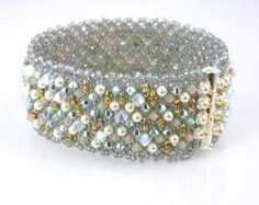 A great beaded cuff bracelet! A wonderful project for all levels of beaders! Works up quickly and is fun to wear! Kit includes detailed instructions, SS slide b