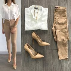 Spring looks for work 2018 casual hijab outfit, business casual outfits, pr Khaki Pants Outfit, Beige Outfit, Casual Hijab Outfit, Casual Work Outfits, Business Casual Outfits, Work Casual, Classy Outfits, Chic Outfits, Fashion Outfits