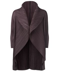 Purple Shawl Collar Jacket, Issey Miyake
