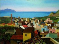 Renato Guttuso(1911ー1987)「Case e tetti di Bagheria」