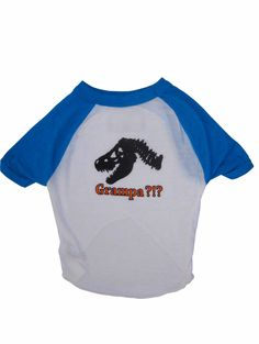 Grampa?!? - Two-Tone Raglan Dog's T-shirt in Three Colors | TRAITS