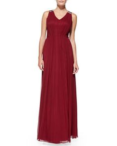 Sleeveless+Beaded-Back+Silk+Gown+by+Phoebe+by+Kay+Unger+at+Neiman+Marcus.