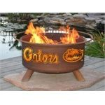 University of Florida Gators Portable Steel Fire Pit Grill THIS NEEDS TO BE A THING!