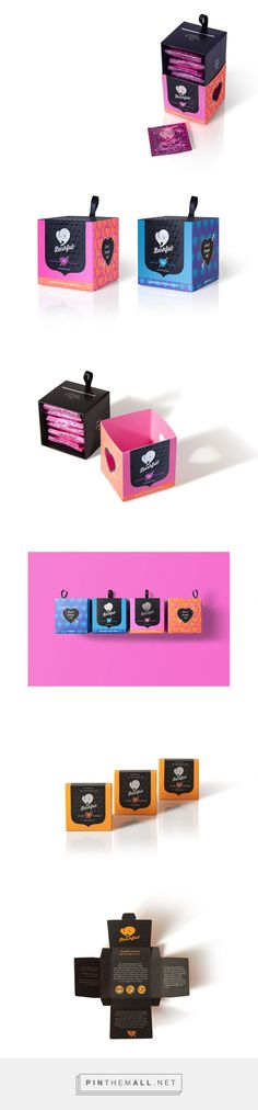 Condom Packaging Designs Bashful Condoms via Dessein curated by Packaging Diva PD. BASHFUL CONDOMS aims to change the perceptions of young women and empower them with a product designed specifically to eliminate feelings of shame and disgrace.