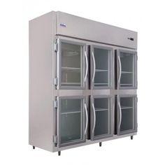 Mini Câmara/Refrigerador Comercial 6 Portas De Vidro (+2 à +8º C) - 220v - Frilux (P-RF-068)