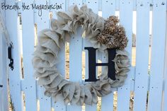 Burlap Wreath with letter