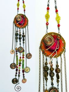 Great mix of materials and style! See her work: http://www.sabinespiesser.com/art-jewelry/necklaces/