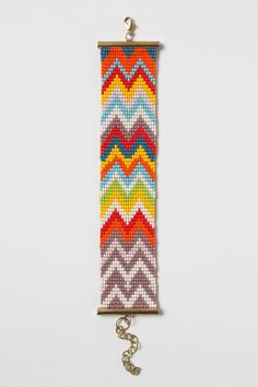 Chevron Bead Bracelet. Love this!
