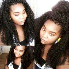 Long crochet braids