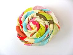 Large Twisted Flower Clip  Rosette Flower Clip  by PoppyandPippa, $3.50