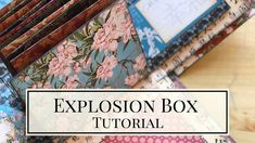 Explosion Box with Hidden Mini Album Tutorial Club Vol 03 - 2020 This beautiful box is not only a pretty home decor piece but an impressive mini album as. Envelope Tutorial, Mini Album Tutorial, Birthday Explosion Box, Center Step Cards, Explosion Box Tutorial, Scrapbook Box, Scrapbooking, Chicken Scratch Embroidery, Origami Envelope