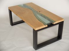 Handmade 'Wood and Water' Coffee Table -  Solid English Oak by ClaymarkFurniture on Etsy