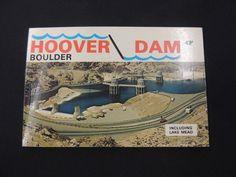 VTG Souvenir 10 Color Photo Mini Picture Album Hoover Boulder Dam Nevada Arizona