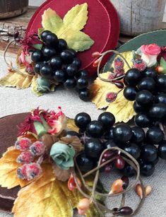 Fall inspired fascinator with vintage berries & wine grapes. By Jazzafine Fascinator, Bordeaux, Thanksgiving, Autumn Inspiration, Headpieces, Vintage, Inspired, Fruit, Wine