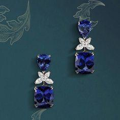 @crivelliofficial.  The perfect balance between grace and strength. #Crivelli #jewels #earrings #tanzanite #diamonds #january #january2017 #monthofcreativity #monthofcreativity2017 #creativity