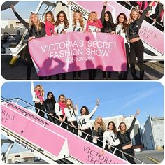 Spreading their wings!Angels #AdrianaLima and #AlessandraAmbrosio lead 40 models on special London flight for #VictoriasSecretFashionShow.#candiceswanepoel #doutzenkroes #LilyAldridge #victoriassecret #fashionshow #fashion #style #celebrity #celebritylook #fashionista #fashionicon #beautiful #pretty #ombre #stylish #lookbook #look #ootd #outfit #heels #shoes #nofilter #girl #makeup... - Celebrity Fashion