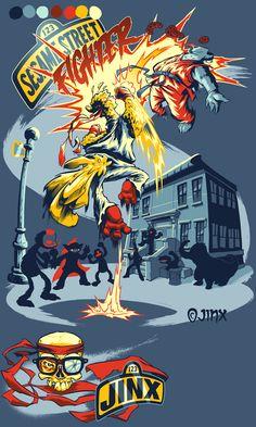 SESAME STREET FIGHTER by ~pop-monkey on deviantART