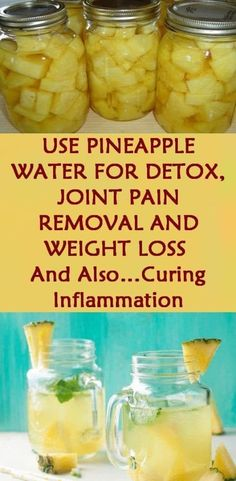 pineapple water for detox , joint pain removal and weight loss and also … curing inflammation.Use pineapple water for detox , joint pain removal and weight loss and also … curing inflammation. Quick Weight Loss Tips, Weight Loss Help, How To Lose Weight Fast, Reduce Weight, Weight Loss Diets, Weight Gain, Weight Loss Challenge, Drinks For Weight Loss, Diet Plan For Weight Loss