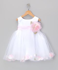 This Pink Rose Petal Bubble Dress - Infant by Cinderella Couture is perfect! #zulilyfinds