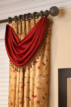 A close-up detail of one of my favorite formal Window Treatments.