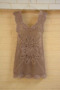 Crochet Dress Women Boho Bohemian Hippie Gypsy Handmade Clothing