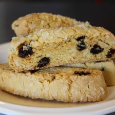 Cherry Almond Biscotti ~~~ These are great with your afternoon cup of tea or even in the morning with your coffee. We dipped ours in white chocolate and they were delicious. The cherries were a great addition to these biscotti.
