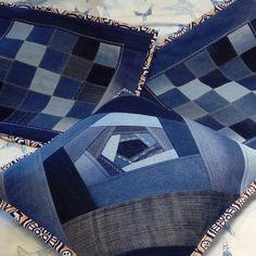 Jean Crafts, Denim Crafts, Denim Quilt Patterns, Colchas Quilting, Denim Ideas, Rag Quilt, Quilts, Recycle Jeans, Old Jeans