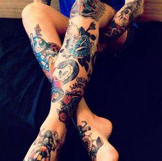 Female Tattoos Legs