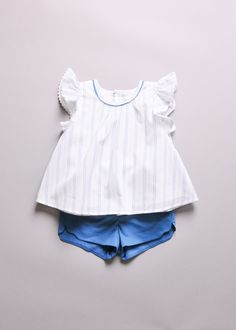 BLOUSE WITH SHORTS SET - SALE - BABY GIRL