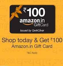 Amazon 100 Gift Card Offer 2 July : Shop Today on Amazon and Get Rs 100 Amazon Gift Voucher for Free - Best Online Offer