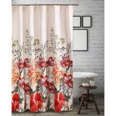 Charlton Home Elzada Single Shower Curtain Modern Bathroom Design, Bathroom Interior Design, Shower Accessories, Fabric Shower Curtains, Holiday Shower Curtains, Beautiful Bathrooms, Home, Bath Shower, Barefoot