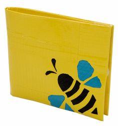 bzzt!  Duck Tape bee wallet
