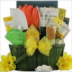 Garden Basket Ideas perfect for a sunflower admirer or an avid gardener this sunflower kitchen spa gift basket Gardeners Delight Gift Basket