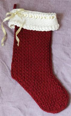 Christmas Stocking - free crochet pattern on Ravelry