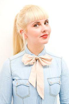 Fliege, Halsschleifer für Frauen // women's bow tie via DaWanda.com