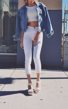 white + denim